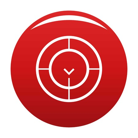 Check of radar icon. Simple illustration of check of radar icon for any design red Stock Photo
