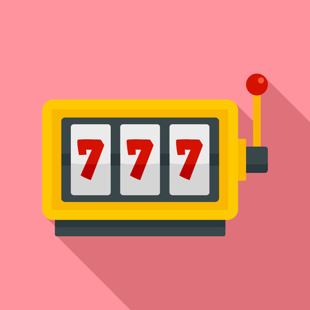 Casino slot machine icon. Flat illustration of casino slot machine icon for web design