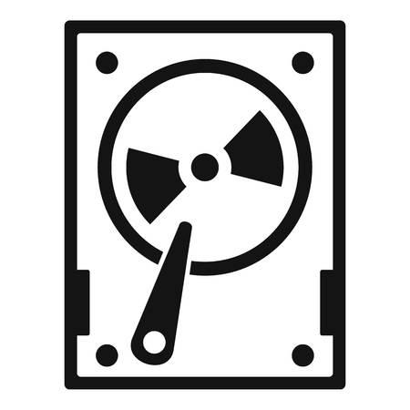 Magnetic hard disk icon. Simple illustration of magnetic hard disk icon for web design isolated on white background 版權商用圖片