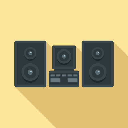 Stereo system icon. Flat illustration of stereo system icon for web design