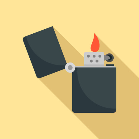 Kerosene lighter icon. Flat illustration of kerosene lighter icon for web design Фото со стока