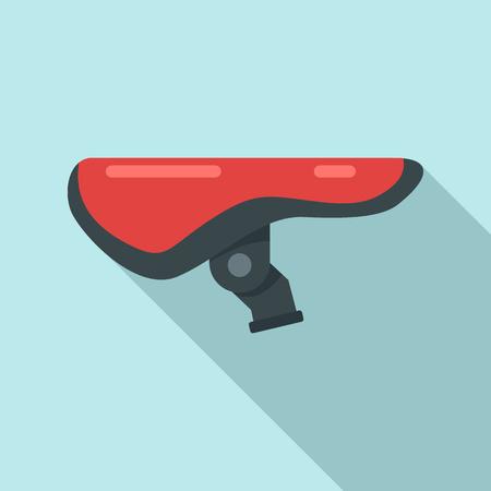 Bike saddle icon. Flat illustration of bike saddle icon for web design