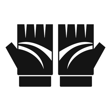 Bike gloves icon. Simple illustration of bike gloves icon for web design isolated on white background 版權商用圖片
