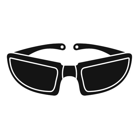 Bike glasses icon. Simple illustration of bike glasses icon for web design isolated on white background