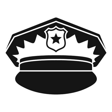 Police cap icon, simple style
