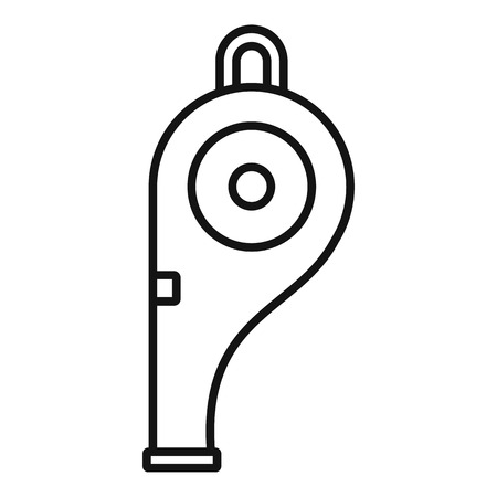 Police whistle icon, outline style