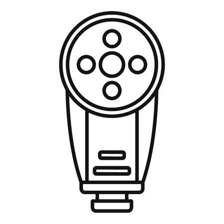 Camera led flash icon, outline style