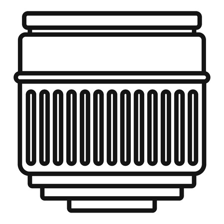 Macro lens icon, outline style