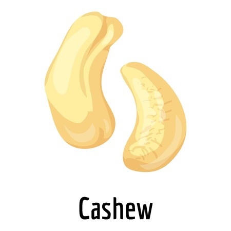 Cashew icon, cartoon style Stock Photo