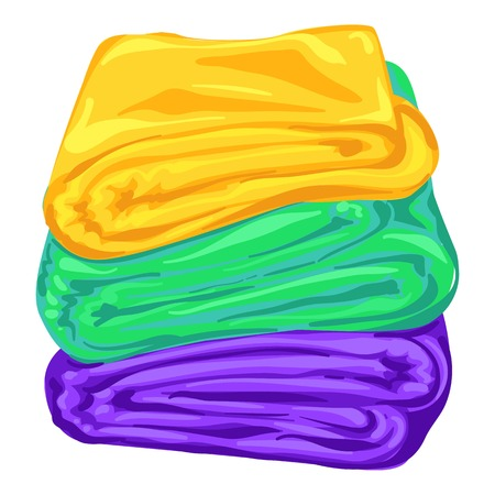 Stack of towel icon, cartoon style Reklamní fotografie