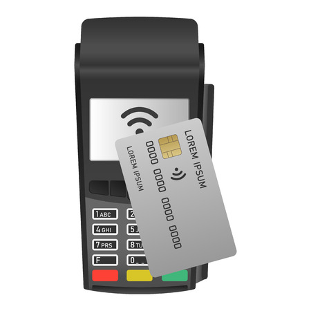Payment machine icon, realistic style Stock Photo