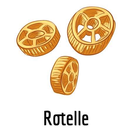 Rotelle icon, cartoon style