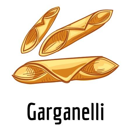 Garganelli icon, cartoon style