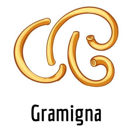 Gramigna icon, cartoon style
