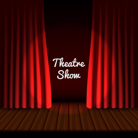 Teatralny baner sceniczny, realistyczny styl