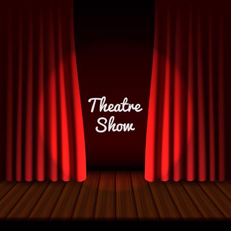 Theaterbühnenbanner, realistischer Stil
