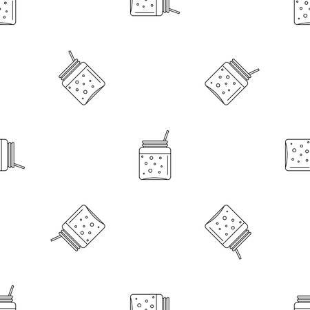 Blackberry smoothie pattern seamless