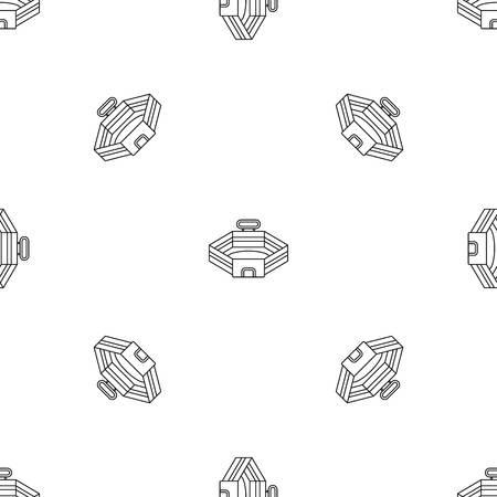 Baseball stadium pattern seamless 스톡 콘텐츠 - 122487787