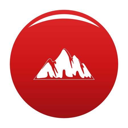 Alp icon red Stok Fotoğraf