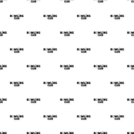 Bowling new club pattern seamless Stock Photo