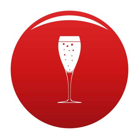 Full glass icon red Stock Photo