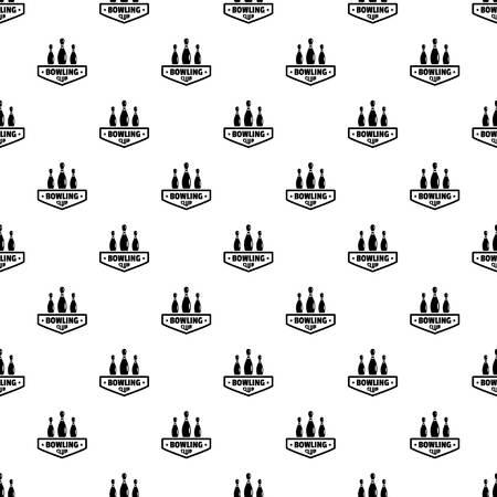 Bowling club pattern seamless Stock Photo