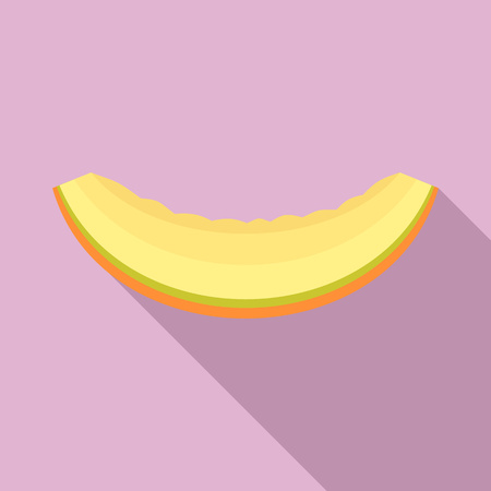Slice of melon icon, flat style