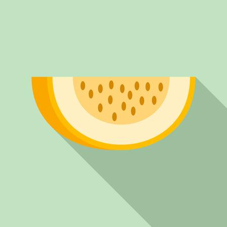 Piece of melon icon, flat style Stock Photo