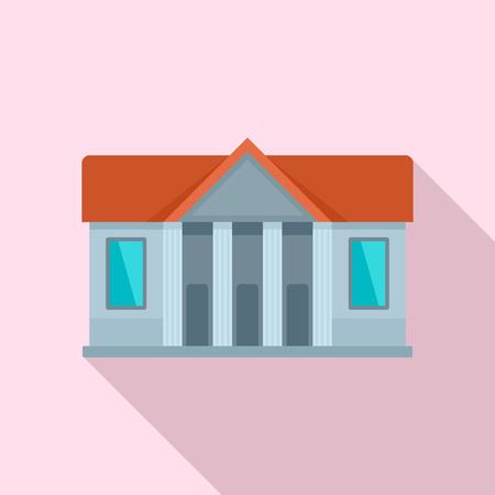 Window courthouse icon, flat style