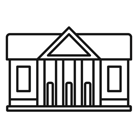 Window courthouse icon, outline style