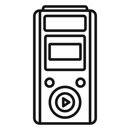 Modern dictaphone icon, outline style