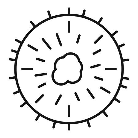 Soursop icon, outline style Stock fotó