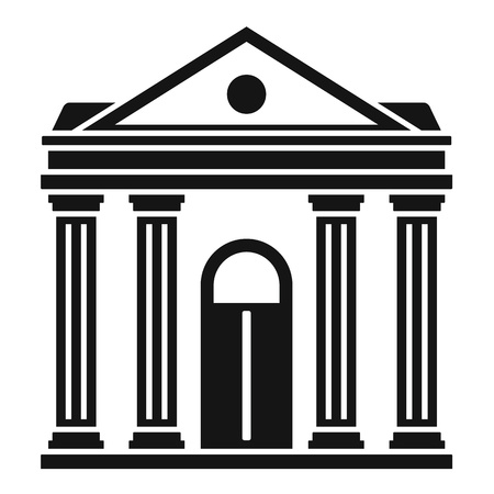 Courthouse institution icon, simple style Banque d'images - 122501236