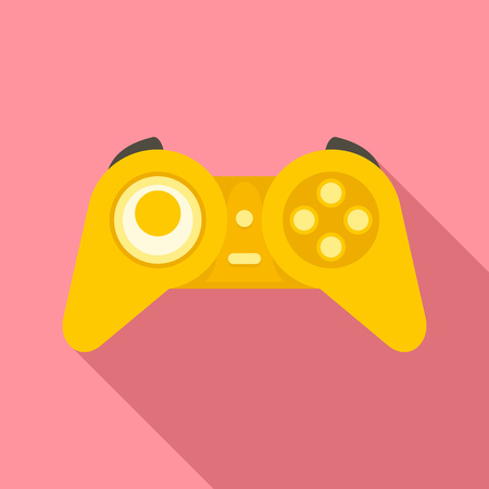 Gaming controller icon, flat style