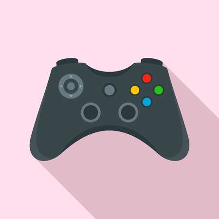 Gamepad control icon, flat style