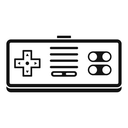 Gaming controller icon, simple style
