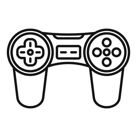 Icona del joystick per videogiochi, stile contorno Archivio Fotografico