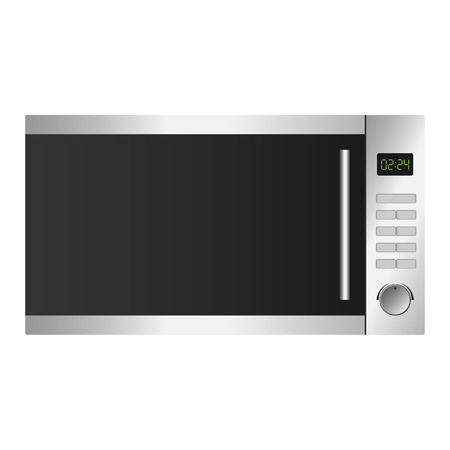 Microwave icon, realistic style Imagens