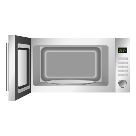 Open microwave icon, realistic style Imagens