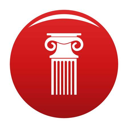 Decorative column icon red Stock Photo