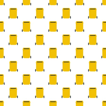 Yellow garbage can pattern seamless