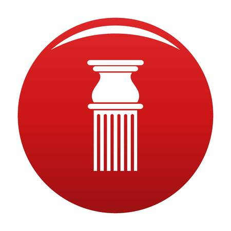 Classical column icon red Stock Photo