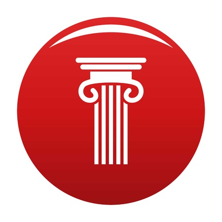 Double columned column icon red Stock Photo