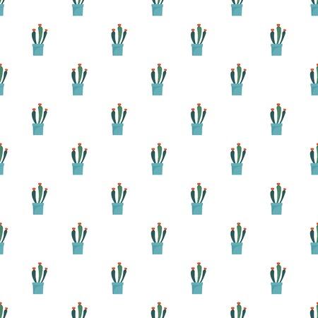 Flower cactus pot pattern seamless Banque d'images - 122505159