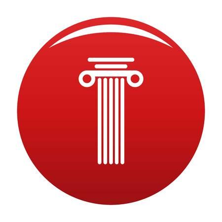 Square column icon red