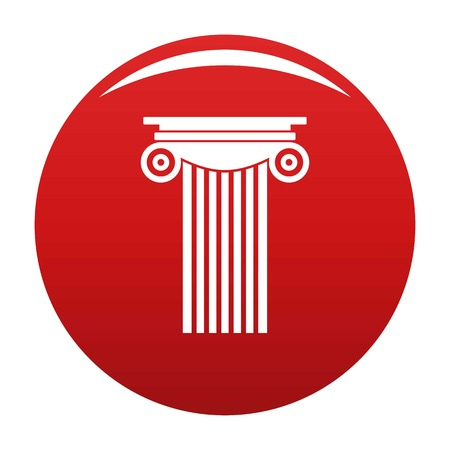 Reinforced concrete column icon red