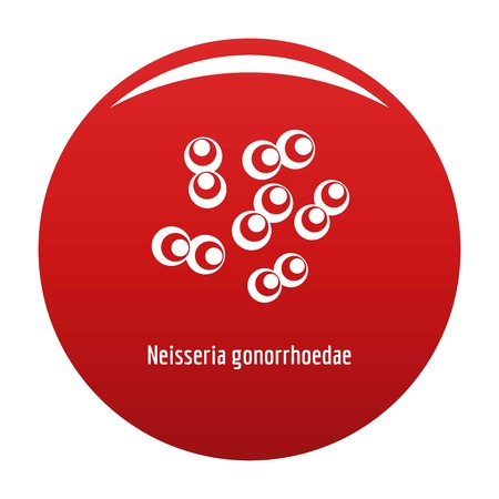 Neisseria gonorrhoedae icon red