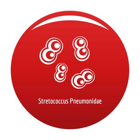 Stretococcus pneumonidae icon red Stock Photo