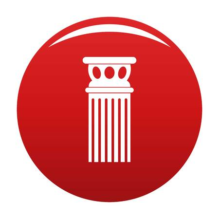 Ancient column icon red Stock Photo