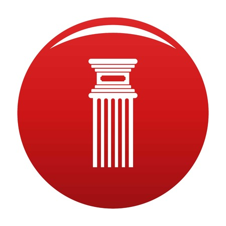 Antique column icon red Stock Photo